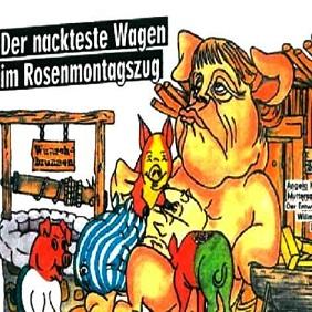 Merkel scrofa coi porcellini