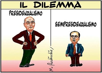 vignetta, presidenzialismo-semipresidenzialismo