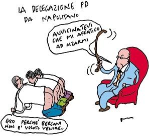 vignetta-Napolitano sculaccia il PD
