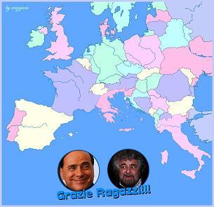 Berlusconi ringrazia Grillo 2013
