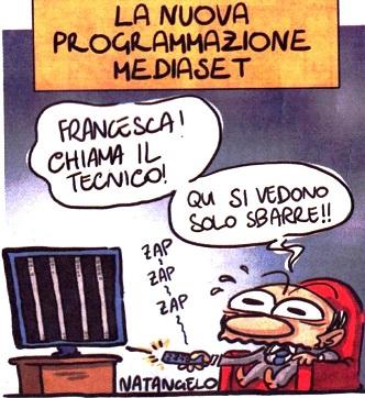 vignetta-barre TV per Berlusconi