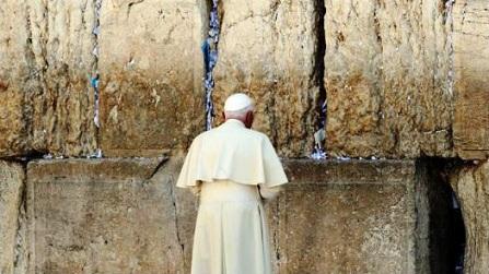 Ratzinger al Muro del Pianto