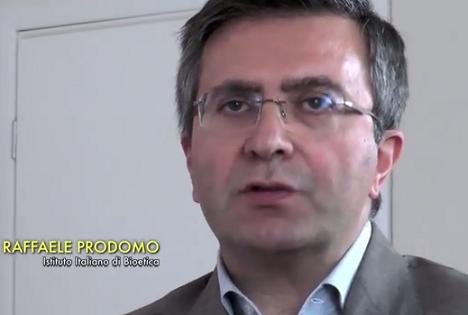 Dott. prof. Raffaele Prodomo, Istituto Italiano di Bioetica