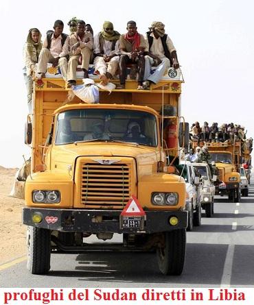 profughi sudan diretti al confino con la Libia