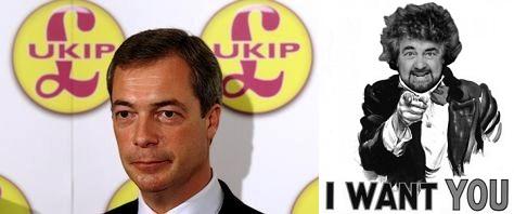 Nigel Farage-ukip. Cerco te dice Grillo
