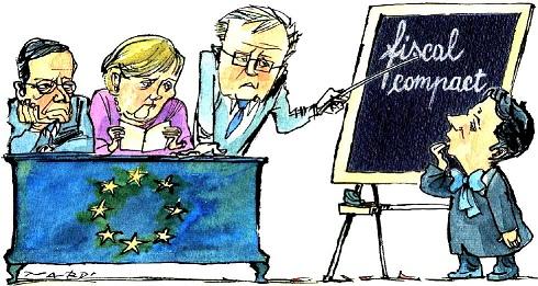 vignetta.renziagli esami sul fiscal compact