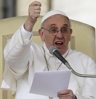 Papa Francesco adirato