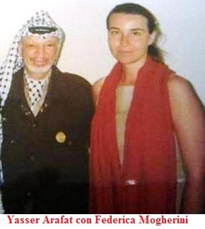 Foto di Mogherini con Arafat