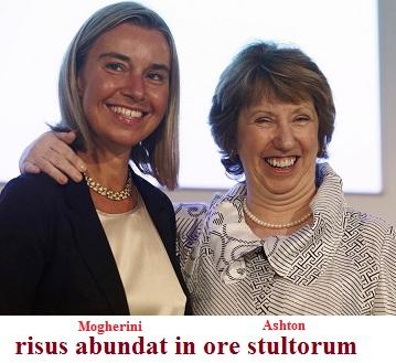 Mogherini e l'Alto rappresentante per gli affari esteri dell'Unione Europea Catherine Ashton