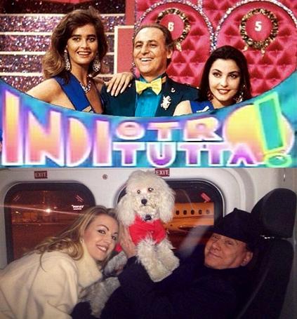 Berlusconi ad indietrotutta con Pascale e Dudù