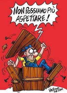 vignetta, Landini rompe gli induci
