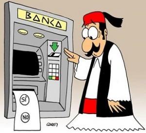 vignetta-Si-No dal bancomat greco