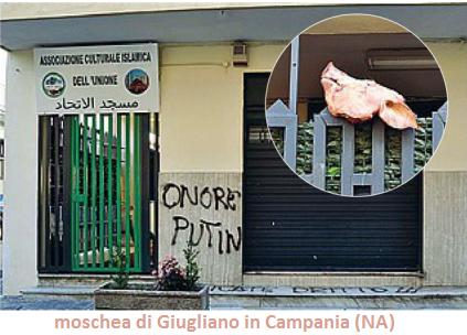 Non si fidano di Alfano, una testa di porco recapita l'avviso al cancello della moschea