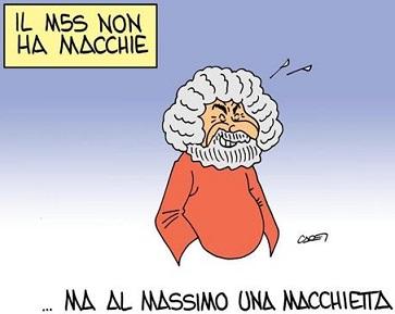 Grillo cura la schizofrenia degli elettori nell'ambulatorio teatrale