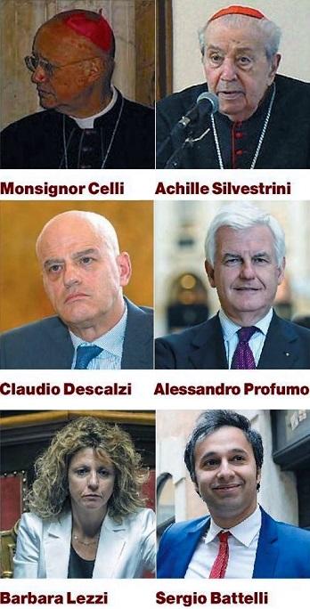 Vescovi, Cardinali, Servizi e boiardi di Stato, la lista di Cecco-Conte è già stilata