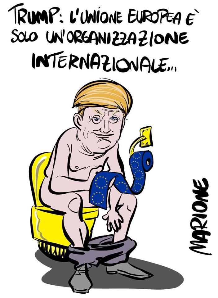 l'America pacifista di Trump smaschera i codardi di casa nostra